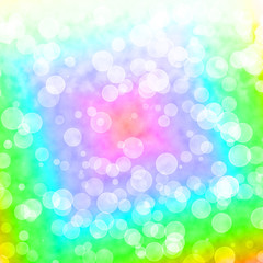 Bokeh Vibrant Multicolored Background With Blurry Lights