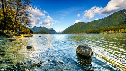 Alouette Lake in Golden Ears Provincial Park in British Columbia, Canada under partly Blue Skies Fototapete