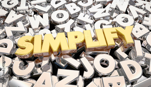 """Simplify Complication Complex Message Word Letters 3d ..."
