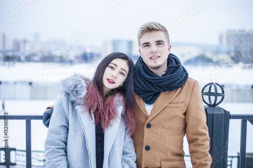 Asian caucasian couples