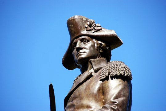Statue of George Washington face