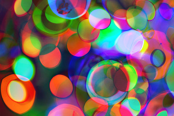 Psychedelic abstract multicolored bright background. circles acid colors
