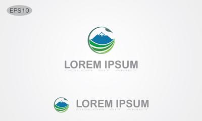 green leaf mountain logo