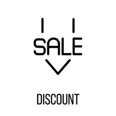Discount icon or logo in modern line style.