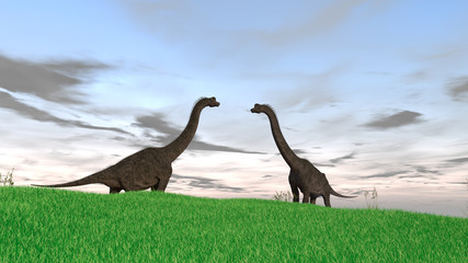 3d illustration of the gigant brachiosaurus