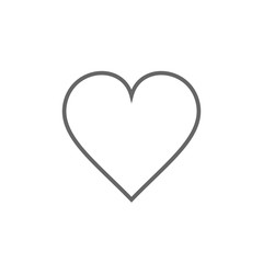 Heart icon outline, vector.