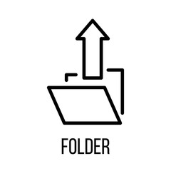 Folder icon or logo in modern line style.