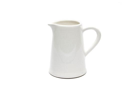 Isolated white jug