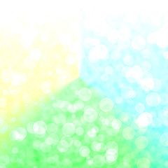 Bokeh Vibrant Green And Yellow Background With Blurry Lights