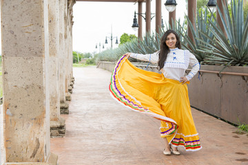 Mexican woman with cultural elements