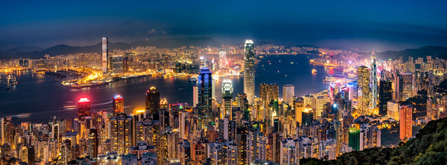 Papiers peints Hong-Kong 香港の夜景