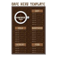 menu cafe template poster template