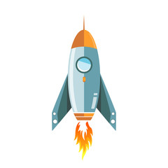 metallic rocket illustration design