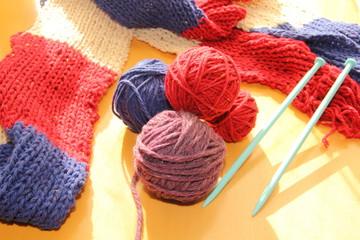 編み物の毛糸