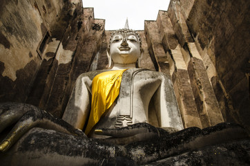 Sukhothai Historical park,Buddha statue in the temple