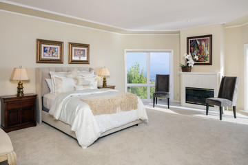 Traditional Bedroom interior in beige