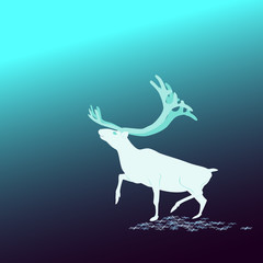 And The Background. Deer North