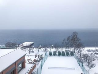 Lake Toya in Toyako town,Hokkaido.