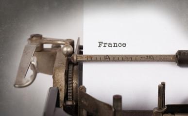 Old typewriter - France