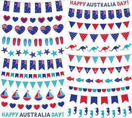 Bunting decoration set for Australia Day