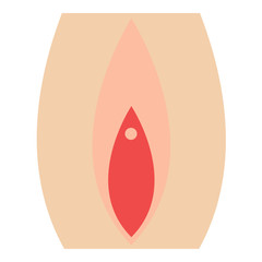 Female sex icon - glyph style - pink and red