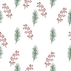 Seamless floral Pattern. Sketch.