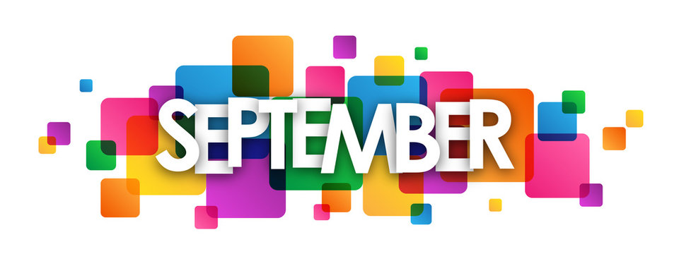 """SEPTEMBER"" Vector Letters Icon"