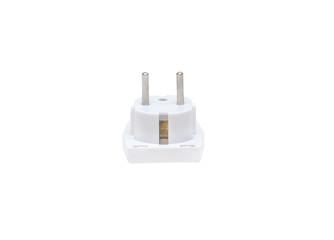 close up power socket isolated on white background