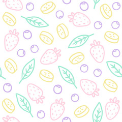 Hand drawn seamless pattern, vector EPS 10 background.