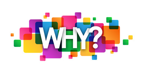 """""""WHY?"""" Vector Overlapping Letters Icon"""