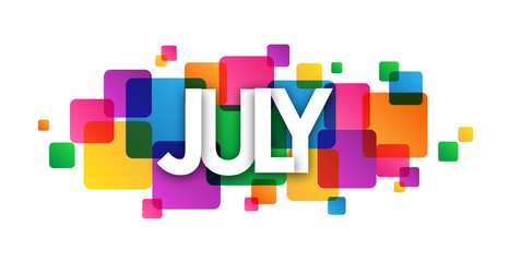 JULY vector icon