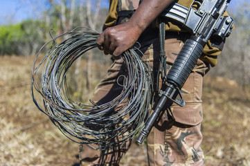 Snares recovered during anti-poaching patrol