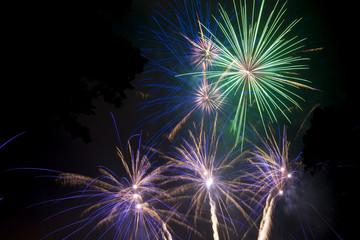 Dazzling fireworks.