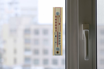 Thermometer Attached to the Window