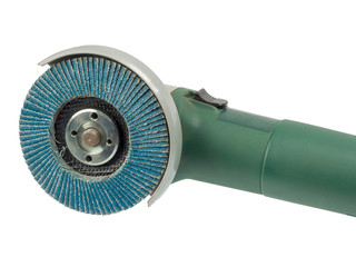 Angle grinder with flap disc