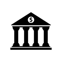 bank building vector icon