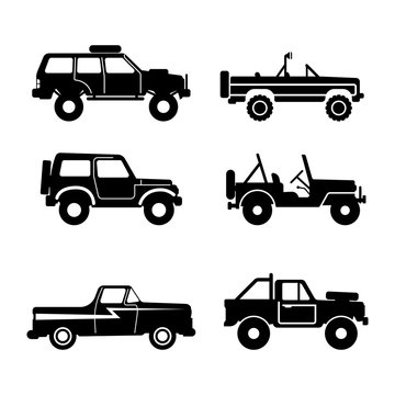 set Off-road vehicle, vector illustration