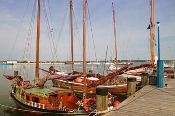 Holzsegelboote, Hafen Gager, Rügen