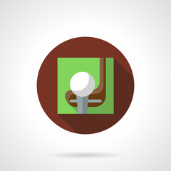 Golf game brown round vector icon
