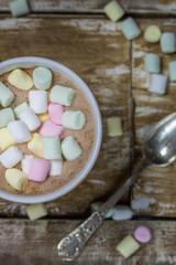 Leckerer heißer Marshmallow Kakao