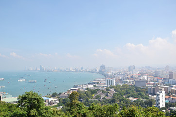Viewpoint from Pratumnak Hill in Pattaya, Thailand