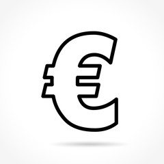 euro thin line icon