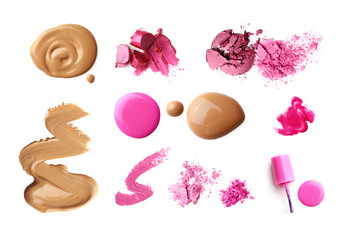 make-up cosmetics isolated on white