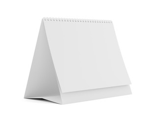 Table spiral calendar with blank pages