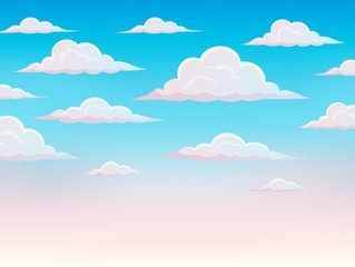 Pink sky theme background 1