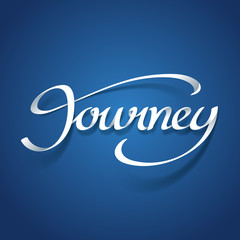 Paper art of Journey calligraphy hand lettering