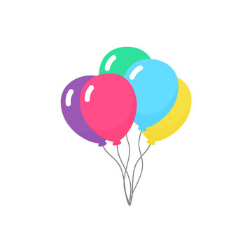 Group of balloons vector