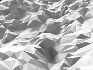 abstract white poligone triangle chaotic background
