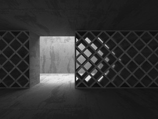 Abstract Concrete Architecture Construction Empty Room Backgroun
