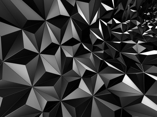 Futuristic triangulated surface contemporary silver background
